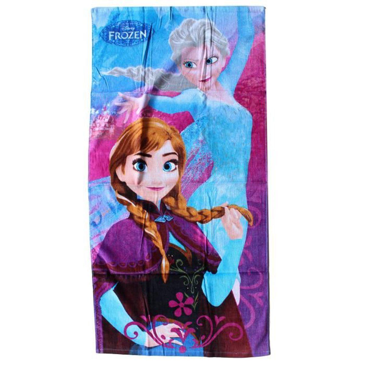 e7b9a1653caa5f La Reine des neiges Serviette de Plage Drap de plage 100% Coton Disney  licence officielle