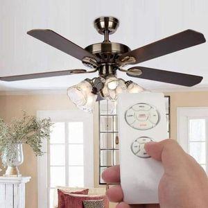 PIÈCE TRAITEMENT AIR Universel ventilateur de plafond lampe télécommand