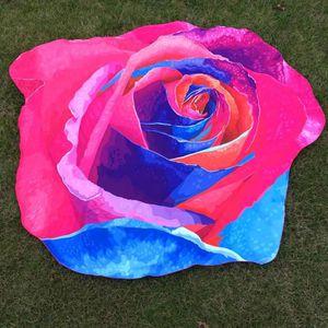 Irregulier Rose Fleur Hippie Tapisserie Plage Pique Nique Jeu De