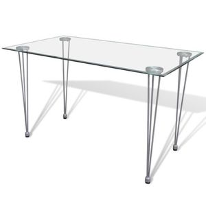 table a manger transparente achat vente table a manger. Black Bedroom Furniture Sets. Home Design Ideas