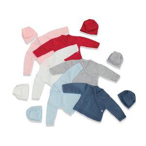 Ensemble de vêtements Set naissance 1 mois Brassière, bonnet et chausson