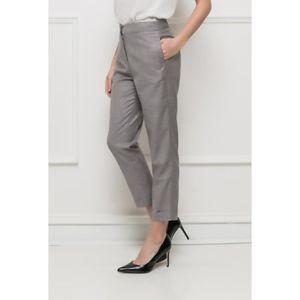 PANTALON Pantalon femme CLASSY élégant coupe droite 7 8 hab ... 5fa4c6d9919