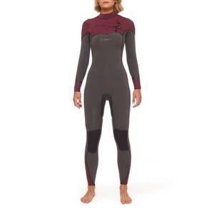 taille 40 05631 05b3c DEEPLY COMBINAISONS DE SURF FEMME PERFORMANCE 4/3 CHEST ZIP NOIR Taille S