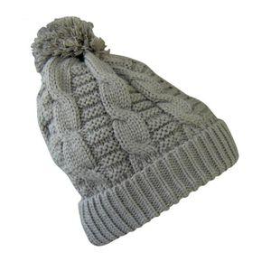 BONNET AVEC POMPON LAINE MAILLE GRIS HOMME FEMME ENFANT FILLE GARCON - No  écharpe gant foulard . 5e7a641c1cc