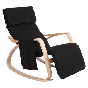 FAUTEUIL WOLTU Fauteuil à bascule,Rocking chair avec poche