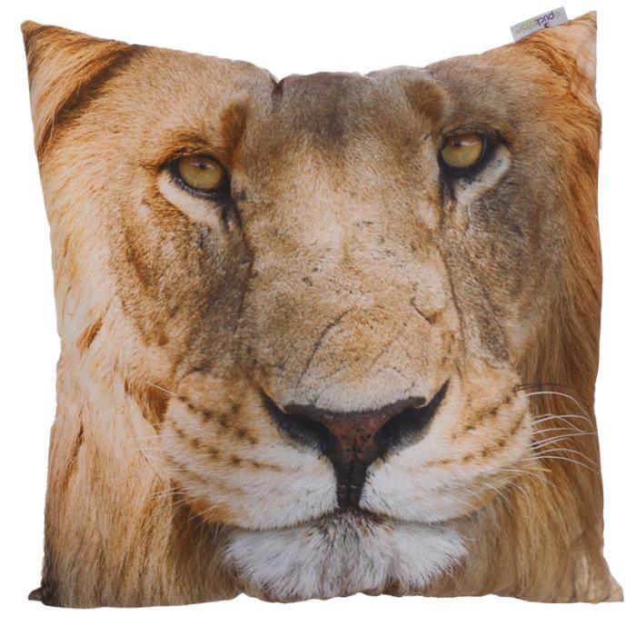 Coussin Tête de lion - 50x50cm