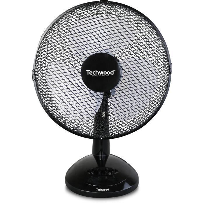 TECHWOOD Ventilateur de table - 23 cm - 3 vitesses de ventilation - Puissance 20 W