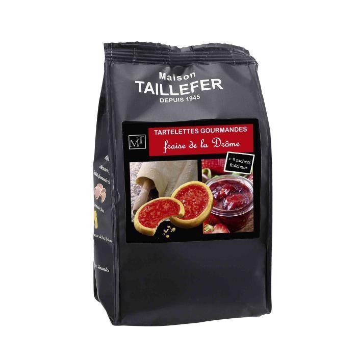 MAISON TAILLEFER Tartelettes Gourmandes à la fraise de la Drôme Sachet de 9 - 125g