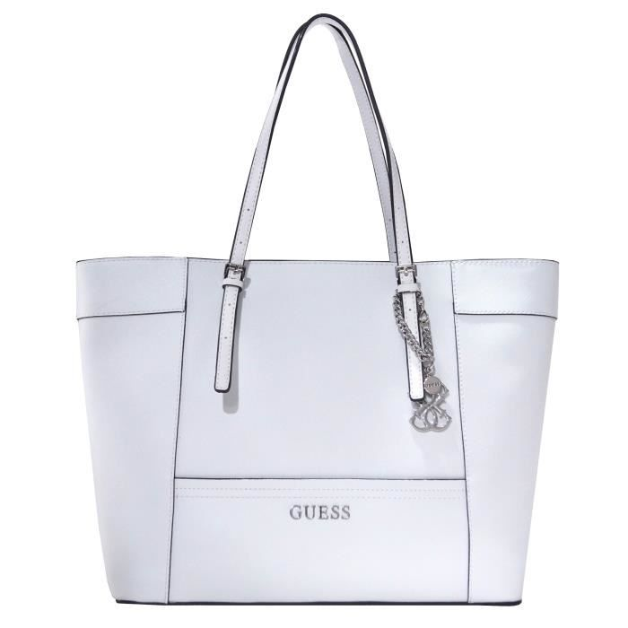 9958d3eadd Sac Cabas Guess Delaney VY453523- Blanc - Achat / Vente Sac Cabas ...