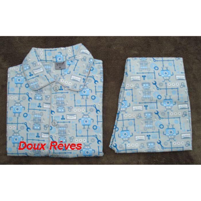 2d1f7c184ee7f Pyjama Garçon Flanelle 100%Coton 2 à 6 ans – ré... Gris - Achat ...