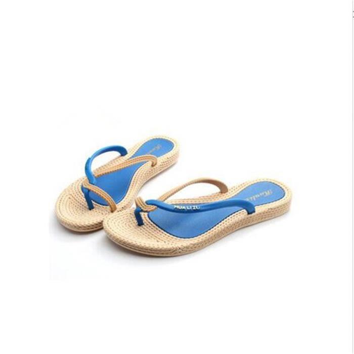 Femme Tongs Nouvelle Mode chaussure plage Classique Respirant sandales plates Qualité Supérieure flip flops