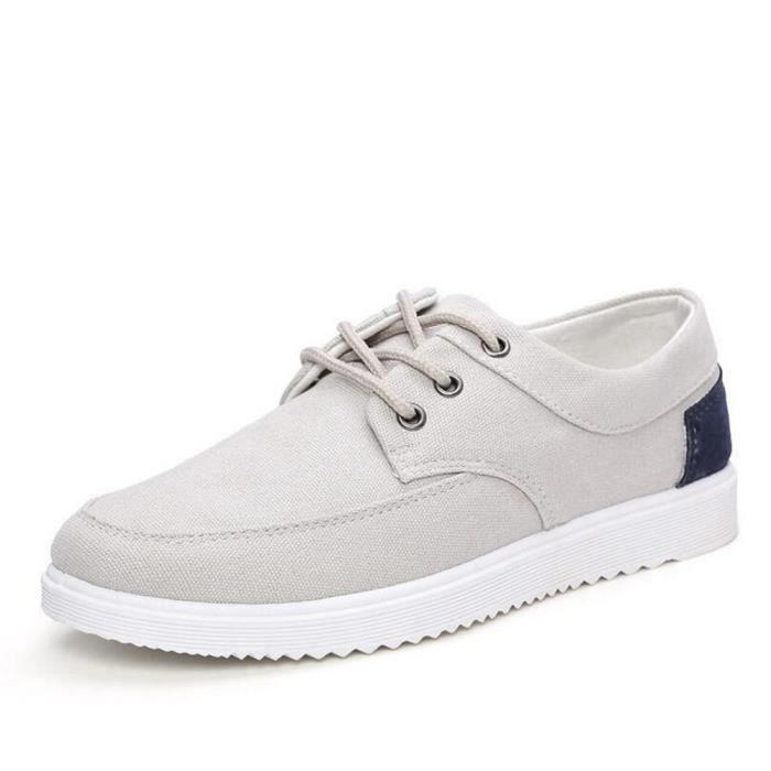 Chaussures En Toile Hommes Basses Quatre Saisons Populaire BSMG-XZ112Gris40 KyhCd