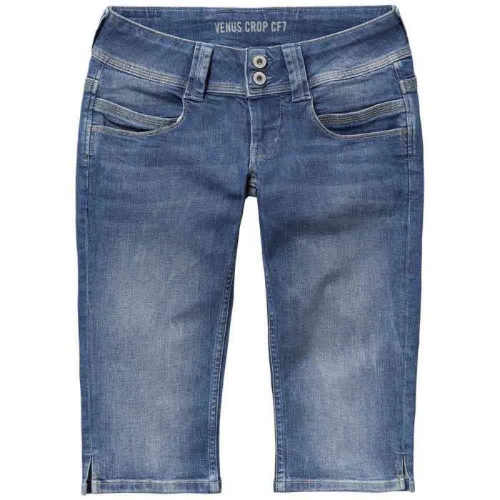 489d6d853b8 Vêtements Femme Jeans Pepe Jeans Venus Crop Blanc Multicoloured ...