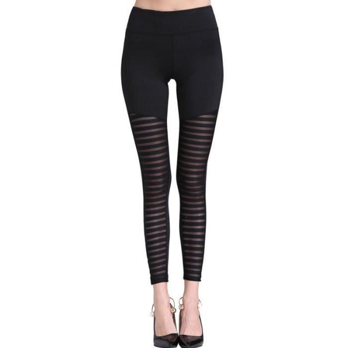 Everbellus Taille Haute Legging De Sport Pantalon Yoga Femme Noir