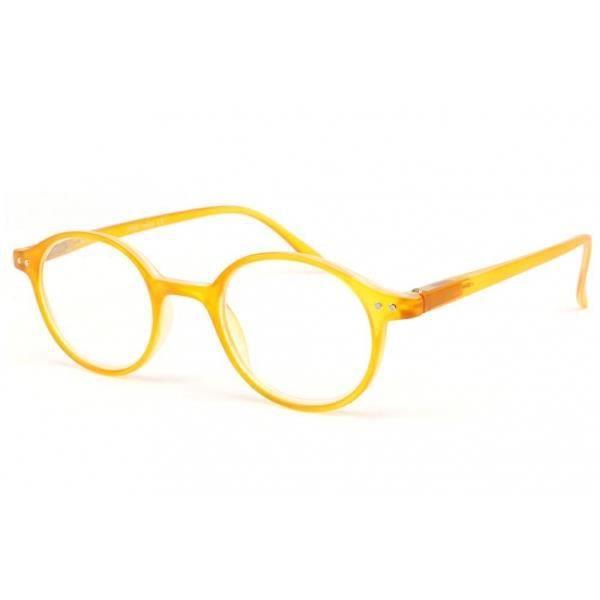 4943d6b21c2712 LUNETTES DE LECTURE Lunette loupe ronde jaune transparent Flex - Jaune