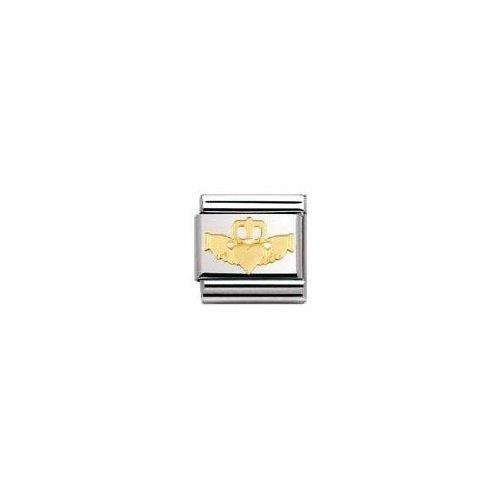 Nomination 030119 - Maillon Pour Bracelet Composable - Femme - Acier Inoxydable Et Or Jaune 18 Cts RCBP4