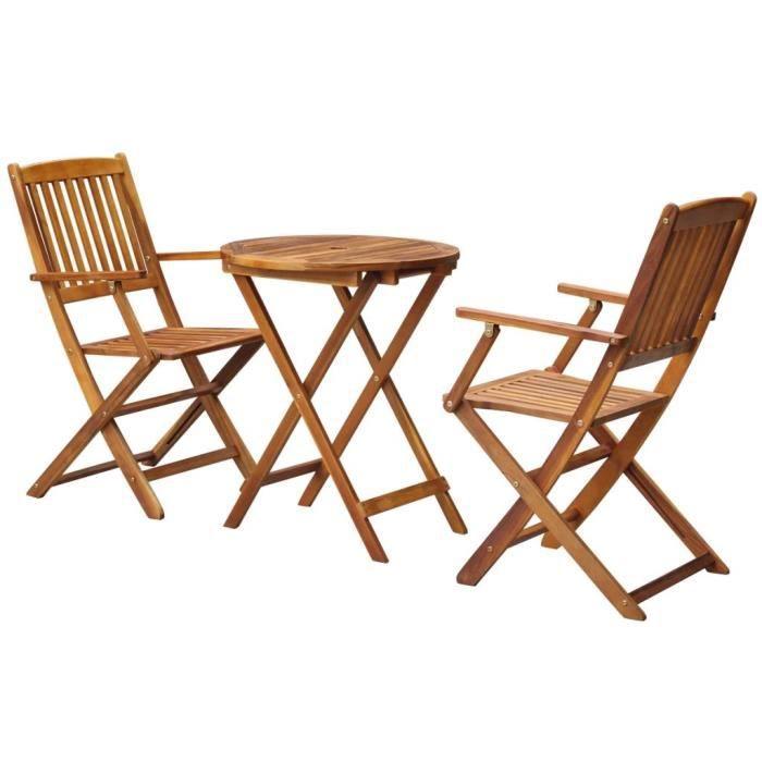 Salon de jardin bois rond - Achat / Vente pas cher