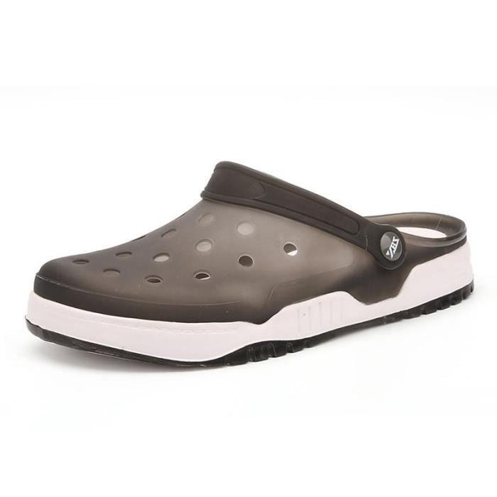 Loisirs L'eau Slipper Chaussures Sandales Dans Marcher slip Foncé Non D'été Hommes De vert bleu Plage Noir bleu 8n10WqHPI