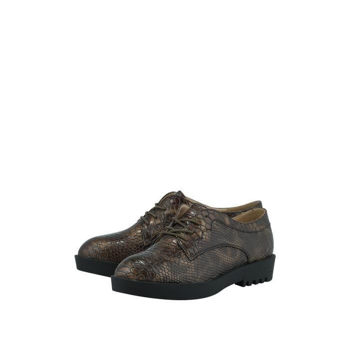 Louvel Chaussures Oxford marron Femme A1014-A6212-BROWN