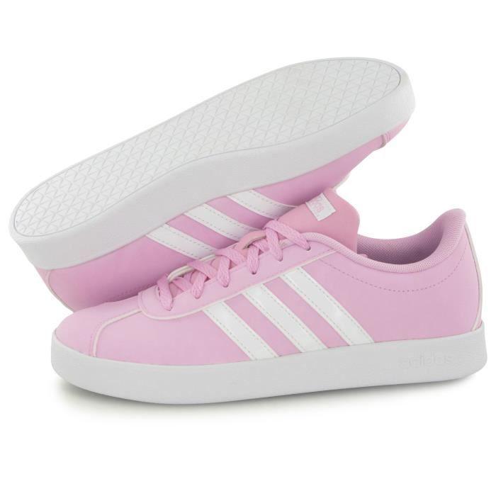 Adidas Performance Vl Court 2.0 rose, baskets mode enfant