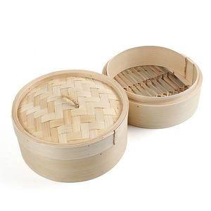 Vaisselle écologique Panier Vapeur Bambou Outil Maison Cuisine Et Couvercle F5ZW1DjDSK
