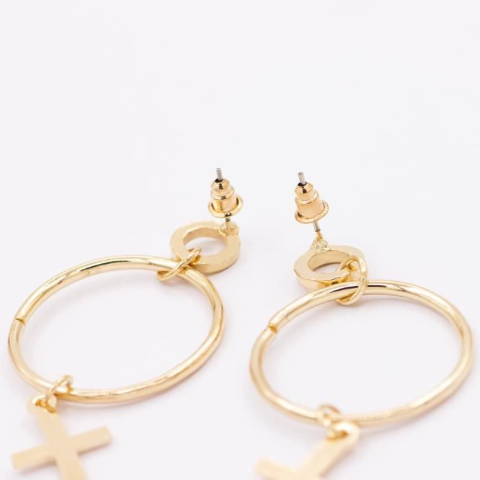Womens Gold Dangling Earrings Light Weight 1 Pair Drop Earrings ForAMJSU