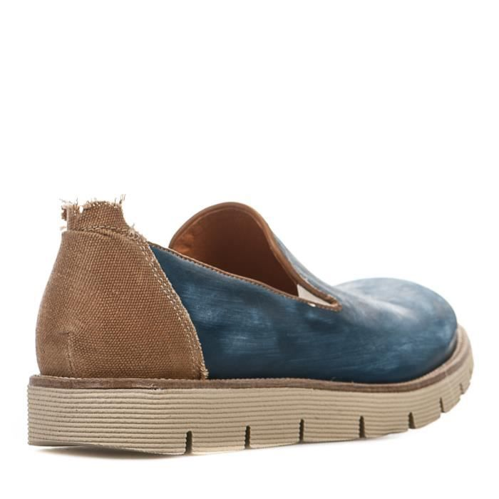 Slip On homme - FIRST COLLECTIVE - Bleu - 1090