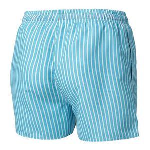 274a8f162a9 ... MAILLOT DE NATATION CBK Short de bain homme - Rayures verticales - Ble  ...