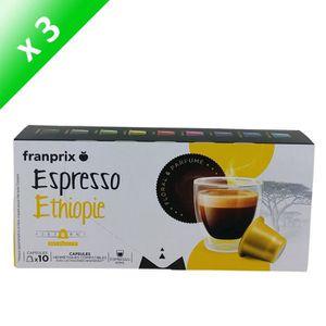 CAFÉ - CHICORÉE FRANPRIX Café Espresso Ethiopie - 3x 10 capsules