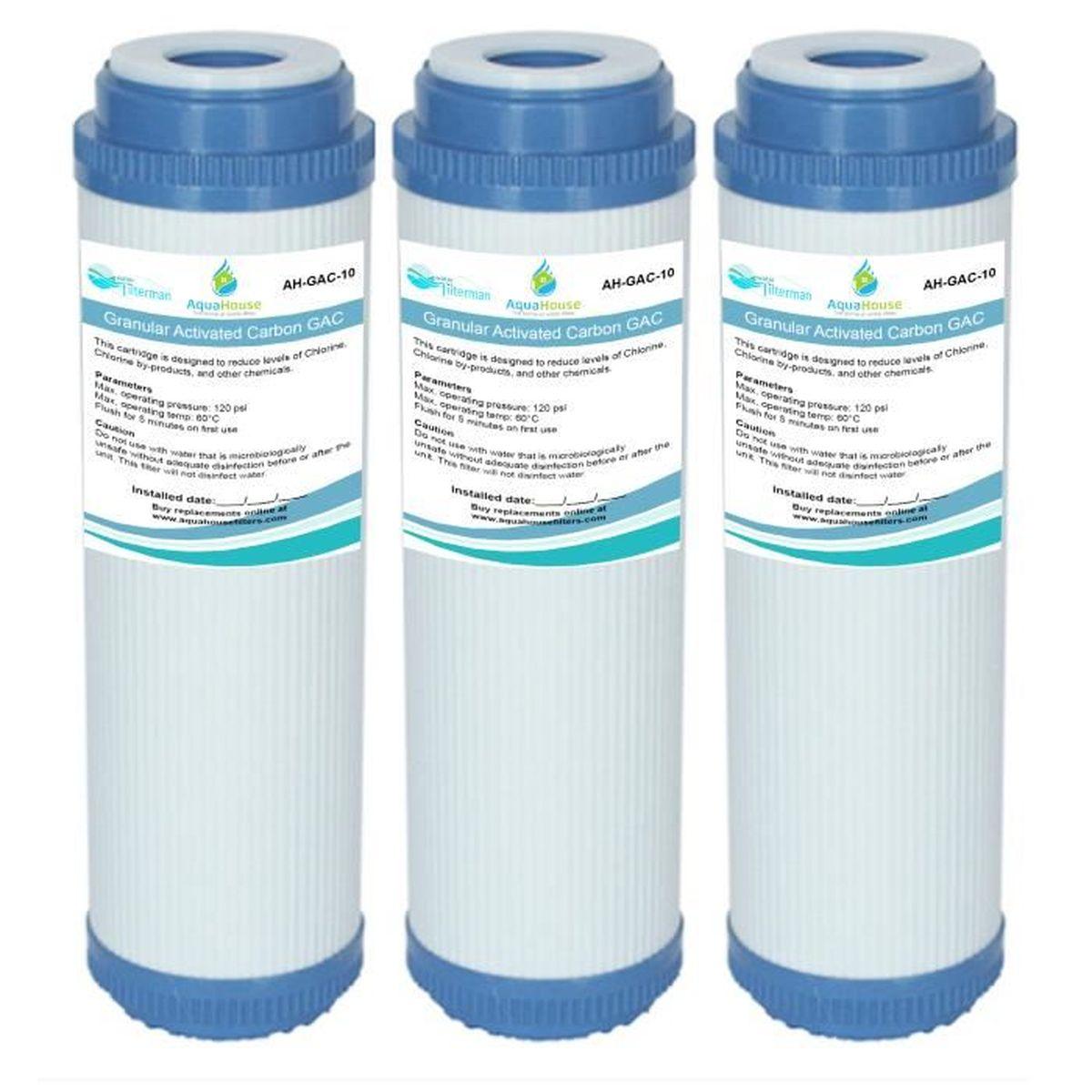 L16 3 x osmose inverse charbon activé granulaire filtre ro Aquariophilie, bassins, mares Animalerie