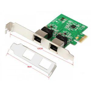 CARTE RÉSEAU  Pci - Express Dual Gigabit Ethernet Carte Contrôle
