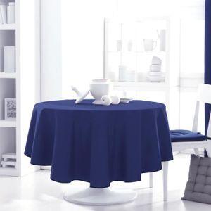 nappe ronde bleu achat vente pas cher. Black Bedroom Furniture Sets. Home Design Ideas