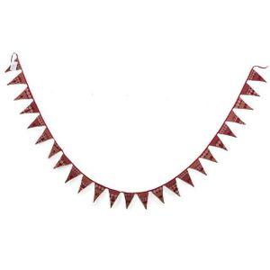 Calendrier de l'avent Shabby Chic coton rouge Tissu de Noël Hanging Pock
