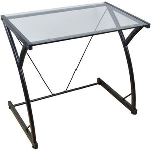 BUREAU  Harbour Housewares - table en verre noir / Bureau