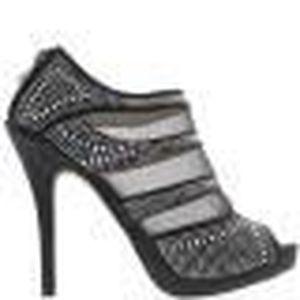 BOTTINE Low-boots femme noirs ouverts à talon de 11cm et p