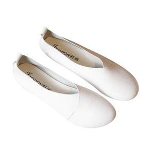 ESCARPIN Ballerine Femmes Printemps Été Mode Cuir Chaussure