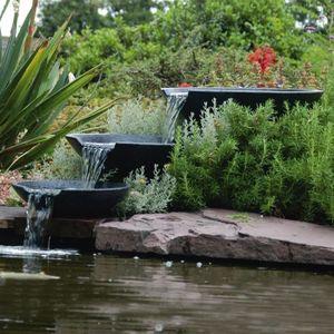 FONTAINE DE JARDIN Fontaine de jardin Cascade 3 vasques avec pompe 35