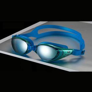 fd8edd38926595 Lunettes de natation adultes   lunettes de Piscine galvanoplastie AntiBuée,  étanches en myopie super claire avec correction Bleu