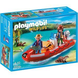 UNIVERS MINIATURE PLAYMOBIL 5559 Braconniers avec bateau