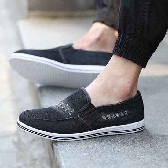 BASKET Casual Slip-On respirant et confortable Loisirs Chaussures pour Mode homme en tissu confortable (taille: 40-46),bleu  Bleu clair - Achat / Vente slip-on