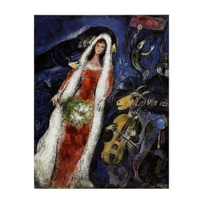Marc Chagall Poster Reproduction - La Mariée (80 x 60 cm) - Achat ...