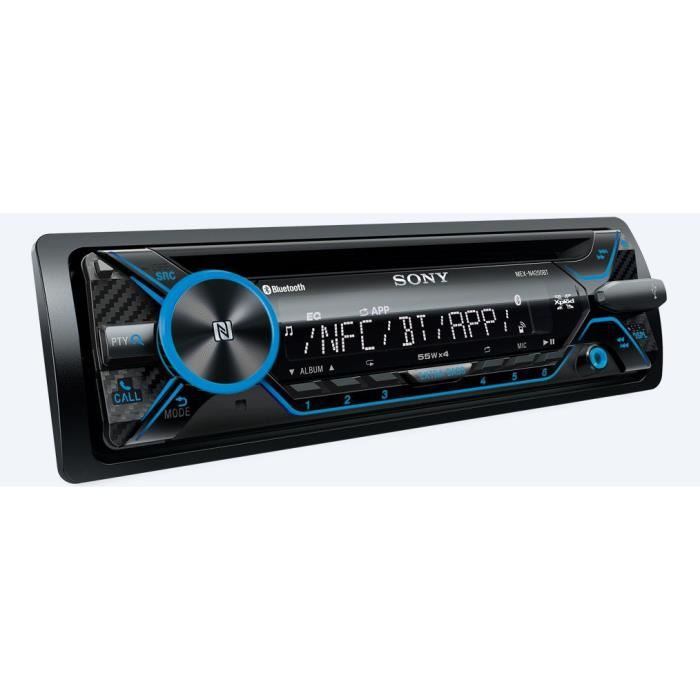 SONY Autoradio MEXN-4200BT Entrée Auxiliaire et USB en Façade SongPal Illumination Rouge 4 x 55 W