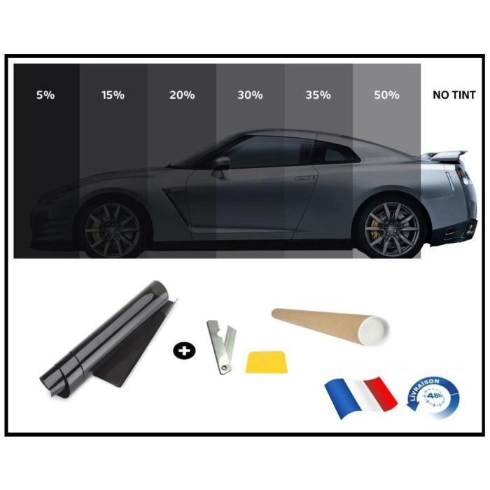 film solaire de qualite 6m x 50cm teint 50 vlt couleur noir auto batiment achat vente. Black Bedroom Furniture Sets. Home Design Ideas
