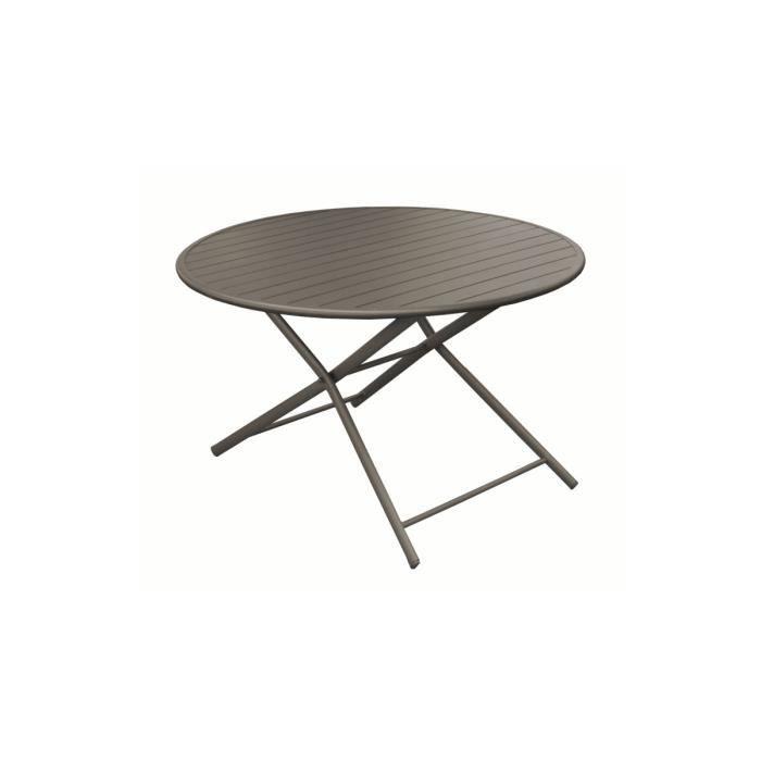 Table de jardin en aluminium ronde - Achat / Vente Table de ...