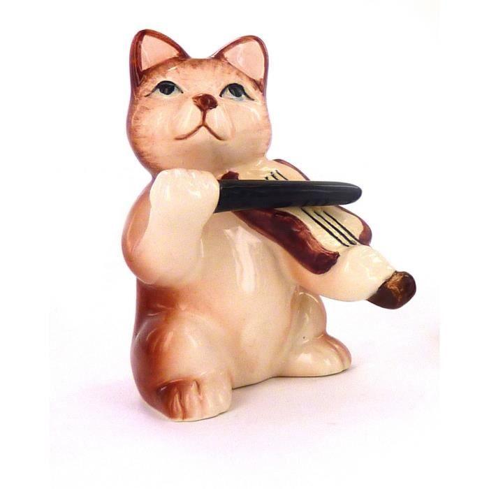 CLOCHE DÉCORATIVE Prodmaison Collection De Figurines Chats Orchestre