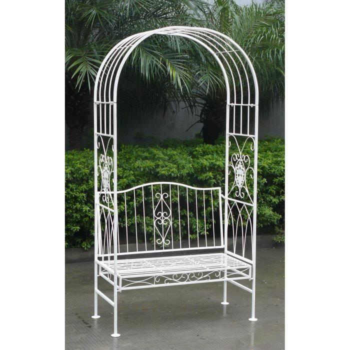 arche pour jardin avec banc achat vente arche pour jardin avec banc pas cher cdiscount. Black Bedroom Furniture Sets. Home Design Ideas