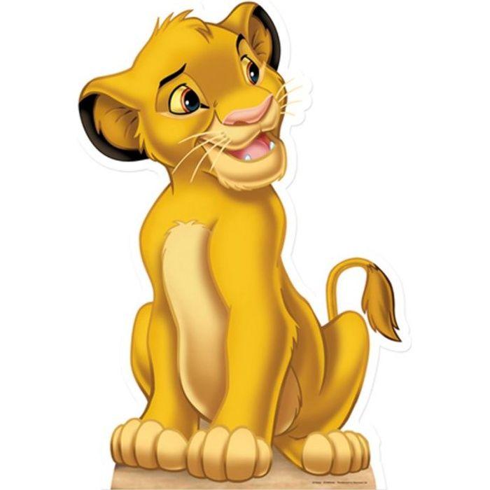 Figurine en carton taille r elle le roi lion simba achat - Voir le roi lion ...