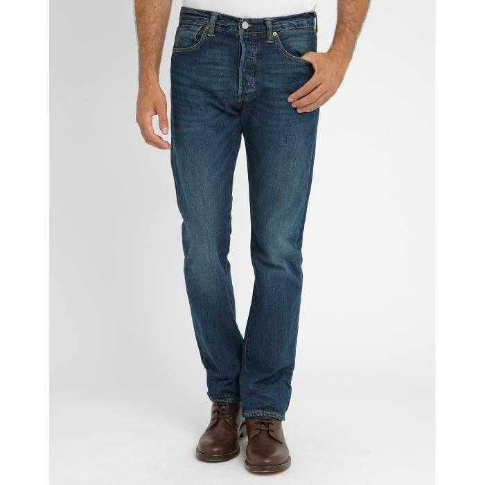 JEANS Jeans 501 Straight Bleu Délavé pour homme