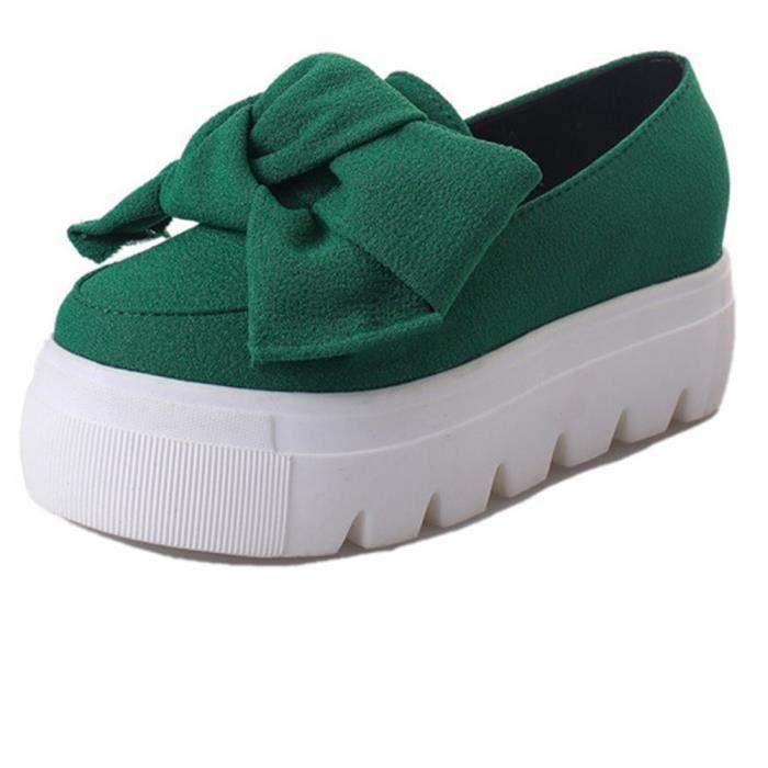 Chaussures Rouge De Luxe noir Ete Plus vert Confortable Qualité Plate forme Femmes Marque Taille Supérieure Durable Loafer Moccasins fxRvUv