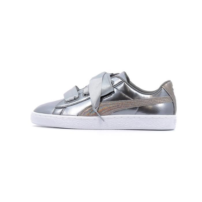 37214008d44ef2 Baskets basses Puma Heart Lunar Lux Baby coloris Smoked Pearl Gris ...